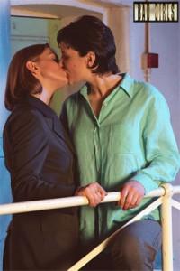 Nikki and Helen kiss
