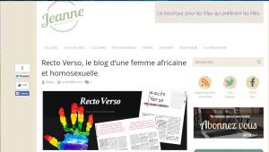 Recto Verso dans Jeanne Magazine